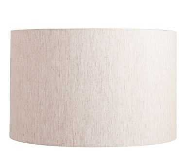 Straight Sided Linen Drum Shade, X-Large, Flax - Pottery Barn