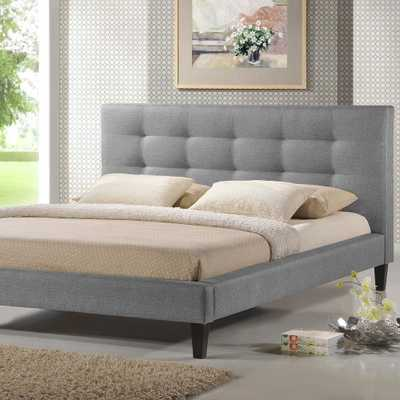 Quincy Gray King Upholstered Bed - Home Depot
