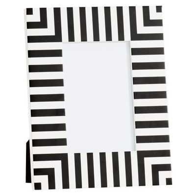 The Emily & Meritt Tabletop Frame, Black/White Stripe Rectangle - Pottery Barn Teen