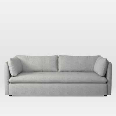 Shelter Sleeper Sofa, HEATHERED CROSSHATCH, FEATHER GRAY - West Elm