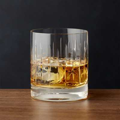 Vance Cut-Glass Double Old-Fashioned Glass - Crate and Barrel
