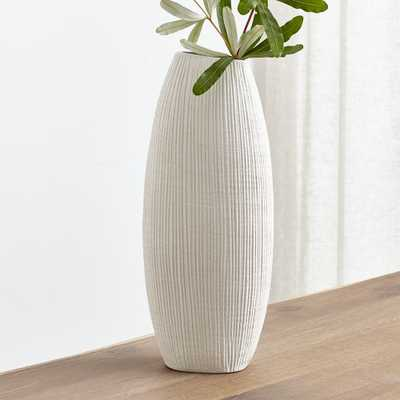 Alura Cream Tall Vase - Crate and Barrel