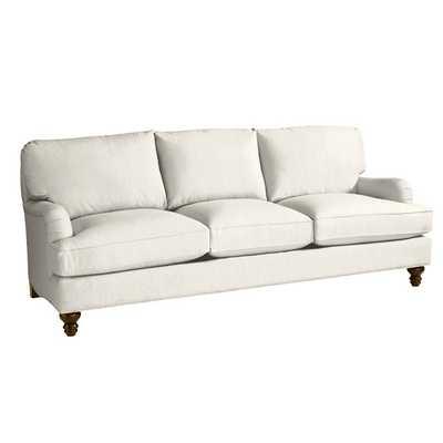 Ballard Eton Sofa, Twill Off White, Driftwood Finish - Ballard Designs