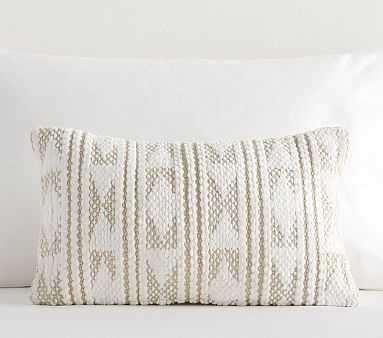Micah Chenille Diamond Lumbar Pillow, Natural - Pottery Barn Kids
