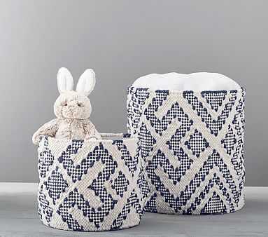 Soft Preppy Diamond Weave Large Navy - Pottery Barn Kids