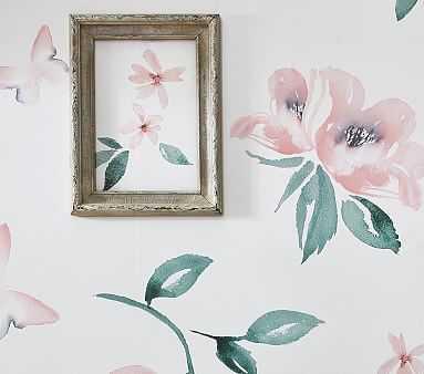 Meredith Rose Peel & Stick Wallpaper - Pottery Barn Kids