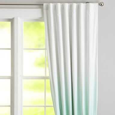 "Ombre Blackout Drape, 108"", Light Turquoise - Pottery Barn Teen"