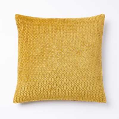 Honeycomb Velvet Pillow Cover - West Elm