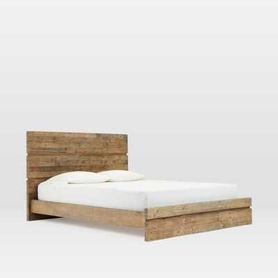 Emmerson® Modern Reclaimed Wood Bed - Stone Gray - West Elm