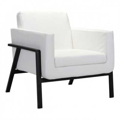 Homestead Lounge Chair White Pu - Zuri Studios