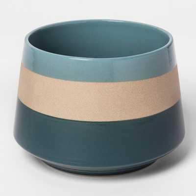 Clay Stripe Vase - Teal - Target