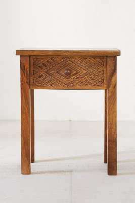 Amira Carved Wood Nightstand - Urban Outfitters