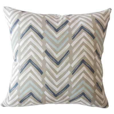 """Barend Geometric Pillow Driftwood - 20""""x20"""" with down insert - Linen & Seam"""