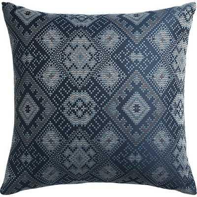 Ixchel Blue Patterned Pillow - CB2