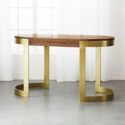 Octavia Oval Desk - CB2