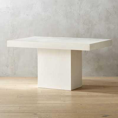 Fuze Ivory White Stone Dining Table - CB2