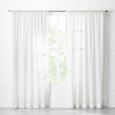 """White Net Curtain Panel 48""""x96"""""" - CB2"