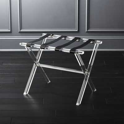 Acrylic and Leather Luggage Rack - CB2