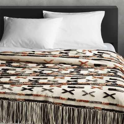 Handwoven Dorado King Blanket - CB2