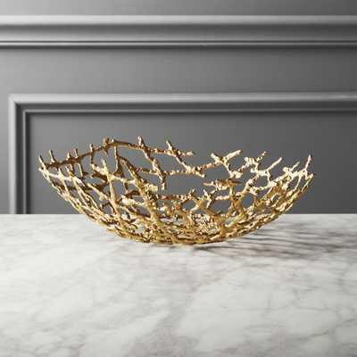 Drizzle Decorative Brass Bowl - CB2