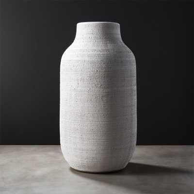 Burlap White Vase - CB2