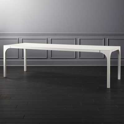 Aqua Virgo Large White Dining Table - CB2