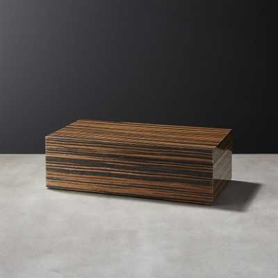Ebony Small Wood Storage Box - CB2