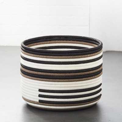 Kalahari Striped Basket - CB2