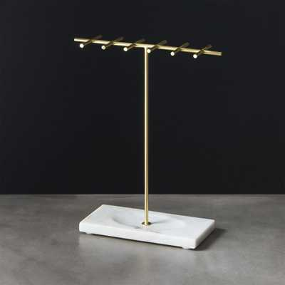 Brass and Marble Jewelry Holder - CB2