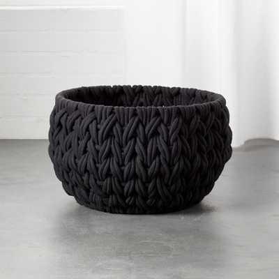 Conway Small Black Basket - CB2