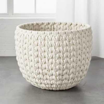 Conway Extra Large White Basket - CB2