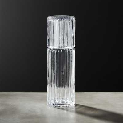 Ribbed Glass Carafe - CB2