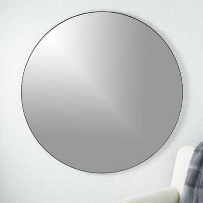 """Infinity Round Black Mirror 48"" - CB2"