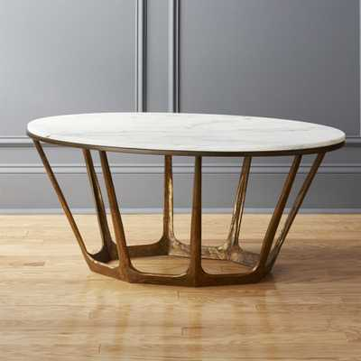 Parker Oval Marble Coffee Table - CB2