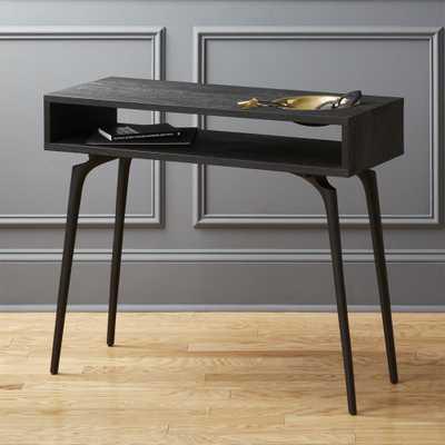 Unwind Black Console Table - CB2