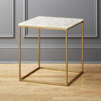 Iris White Agate Side Table - CB2