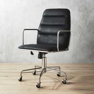 Mad Black Executive Chair - CB2