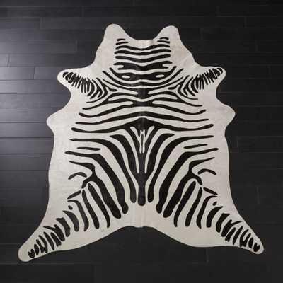 Faux Zebra Hide Rug 5'x8' - CB2