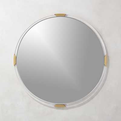"""Demi Round Acrylic Mirror 36"""""" - CB2"