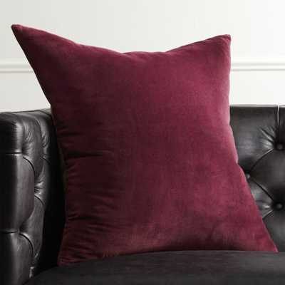 """23"""" Leisure Plum Pillow with Feather-Down Insert"" - CB2"