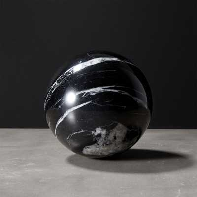 Black Marble Sphere - CB2