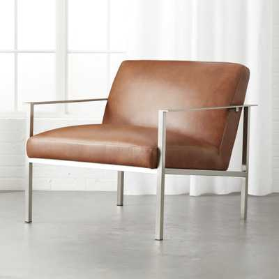 Cue Brown Leather Lounge Chair - CB2