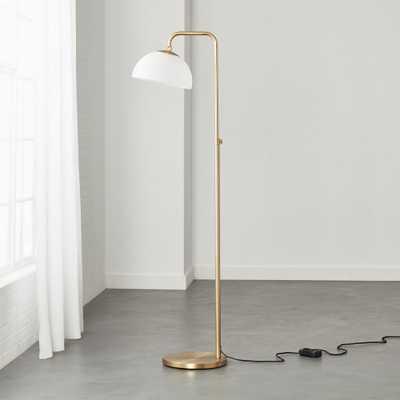 Duomo Brushed Gold Floor Lamp - CB2