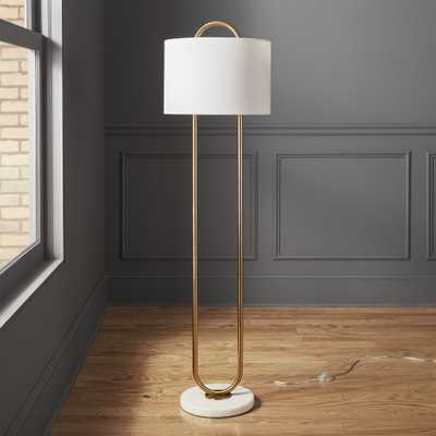 Warner Marble Base Floor Lamp - CB2