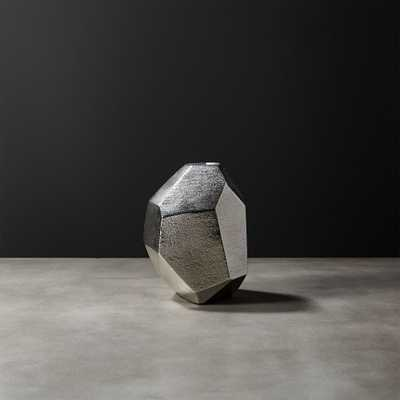 Von Silver Geometric Vase - CB2