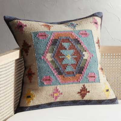 "23"" Kilim Pillow with Down-Alternative Insert - CB2"