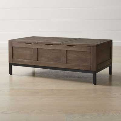 Tucker Grey Rectangular Trunk - Crate and Barrel