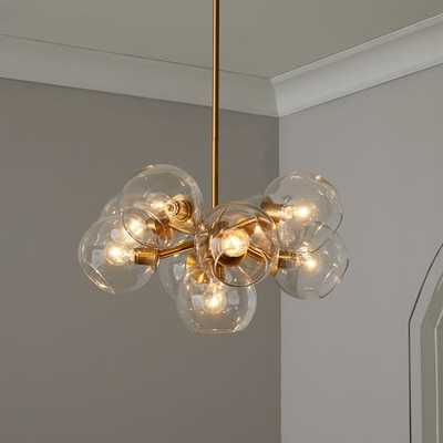 Staggered Glass Chandelier - 9-Light - West Elm