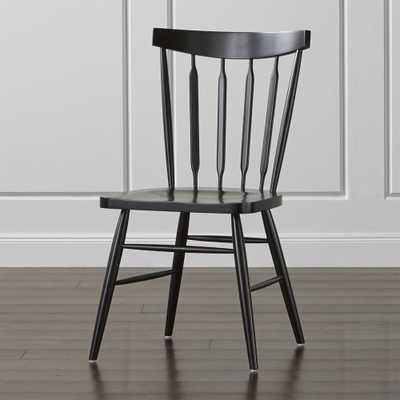 Willa Black Wood Dining Chair - Domino