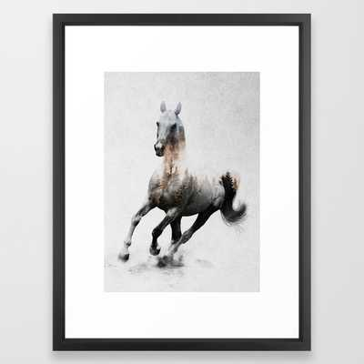 "Galloping Horse Framed Art Print - 20""x26"" - Society6"